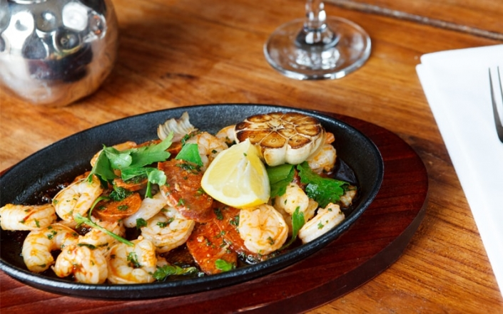 Food at The Oak Tree Inn Helperby - Seafood dish