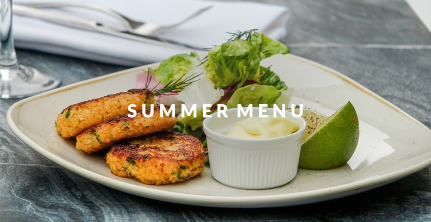 New summer menu launch at The Oak Tree In Helperby - An image of our crab cakes from our summer menu